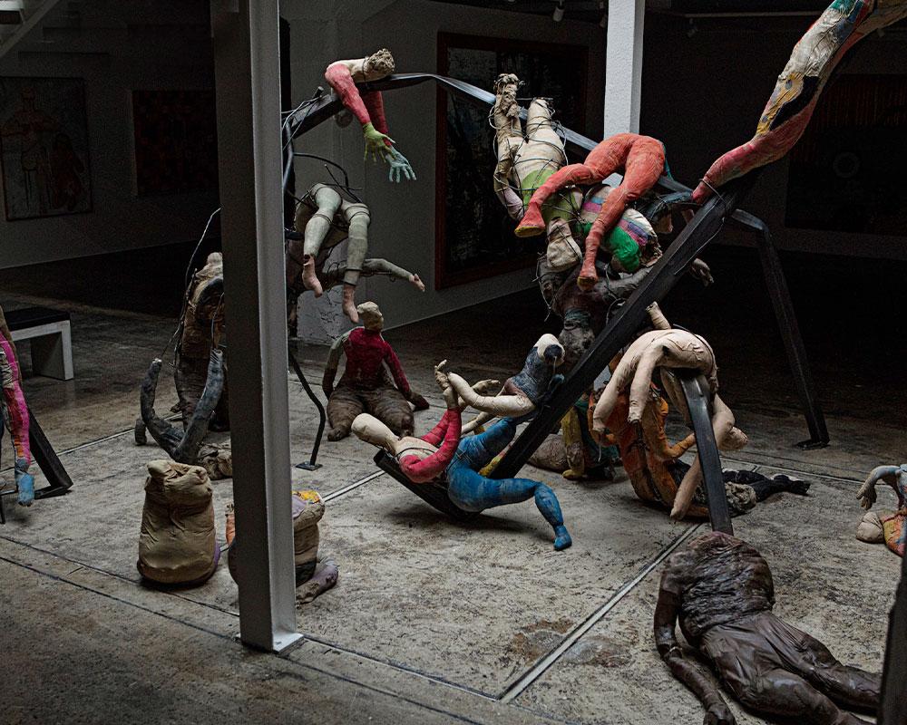 Konstverk dockor massaker Ståhl Collection Konsthall i Norrköping